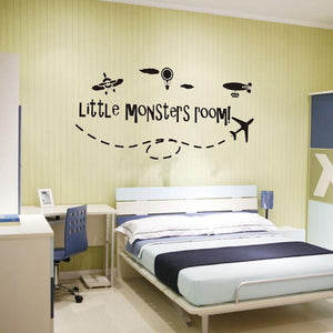 Little Monsters Room Designed Wall Stickers