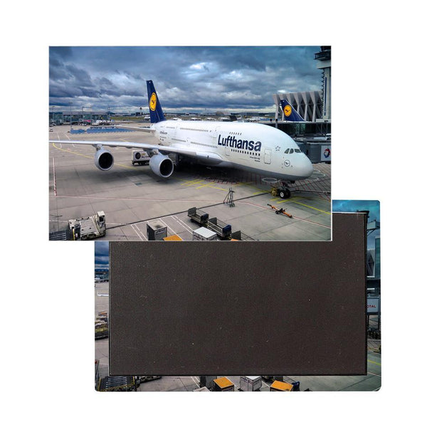 Lufthansa's A380 At The Gate Printed Magnet