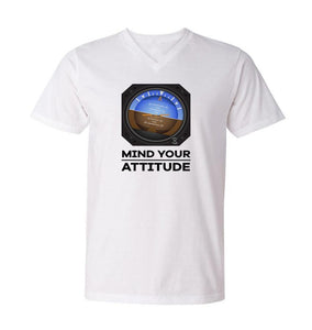 Mind Your Attitude Designed Men V-Neck T-Shirts