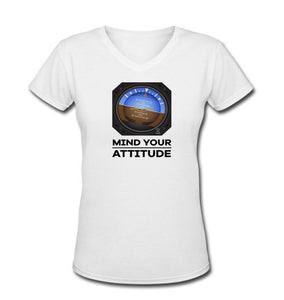 Mind Your Attitude Designed Women V-Neck T-Shirts