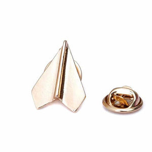 Paper Plane Shaped Brooches