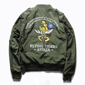 "PILOT Bomber Jacket ""Flying Tigers"" Windproof & For Spring"