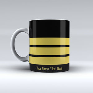 Pilot Epaulette (1,2,3,4 Lines) Printed Customisable Mugs