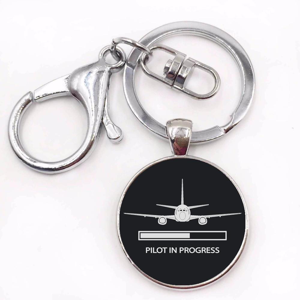 Pilot In Progress Designed Key Chains
