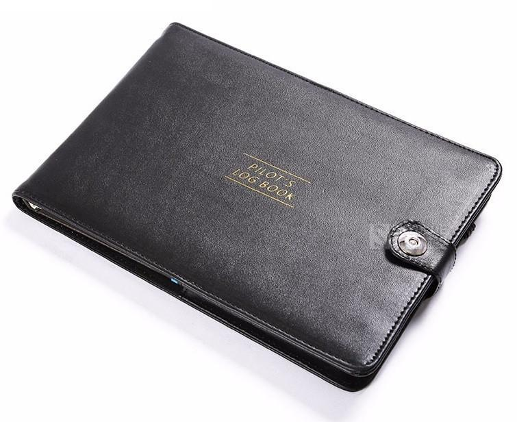 Pilot Logbook Cover & Leather Case