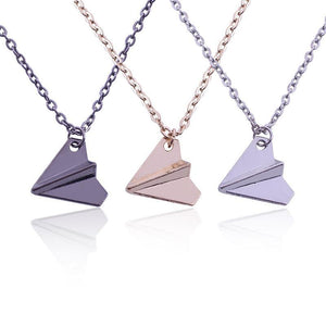 Popular Paper Airplane Necklaces