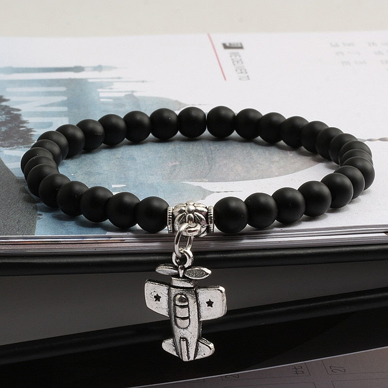 Natural Stone Designed Airplane Shape Bracelets