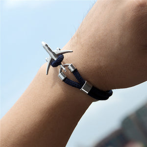 (Edition 2) Super Quality Stylish Airplane Shape Bracelets (Pure Colours)