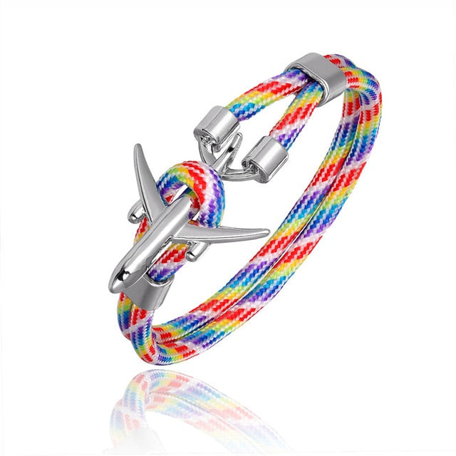 (Edition 2) Super Quality Stylish Airplane Shape Bracelets (Mixed Colours)