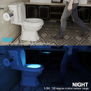 Super Cool LED Night Light for Toilet Seat (8 Different Colours)