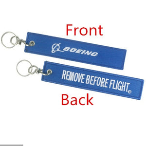Boeing & If It ain't Boeing, I'm not going! (Dark Blue) Designed Key Chains