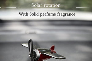 Solar Energy Airplane Shape Super Fan+Non Slip Mat+Parfume Stick
