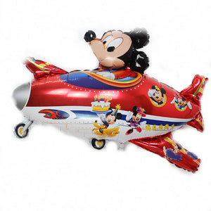 Mickey Minnie Style Propeller Aircraft Balloons