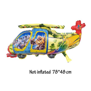 Cartoon Style Helicopter Shape Balloons