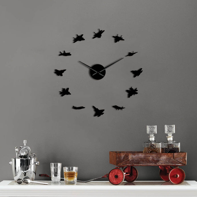 Acrylic Super Quality Vintage Different Airplane Shapes Wall Clock