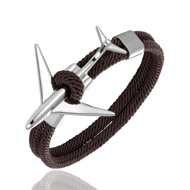 (Edition 2) Super Cool Airplane Designed Rope Leather Bracelets