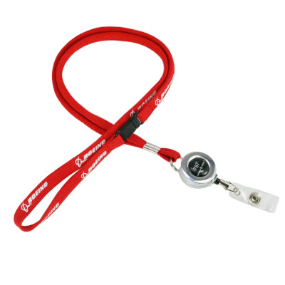 Genuine Red Boeing 787 Dreamliner Designed Lanyard & ID Holders