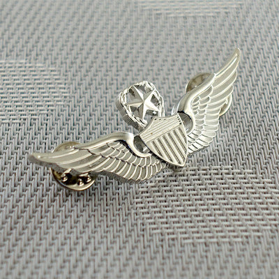 Silver WWII USAF Designed Pilot Badge
