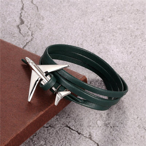 (Edition 3) - Special Leather Rope Designed Airplane Bracelets (Adjustable)