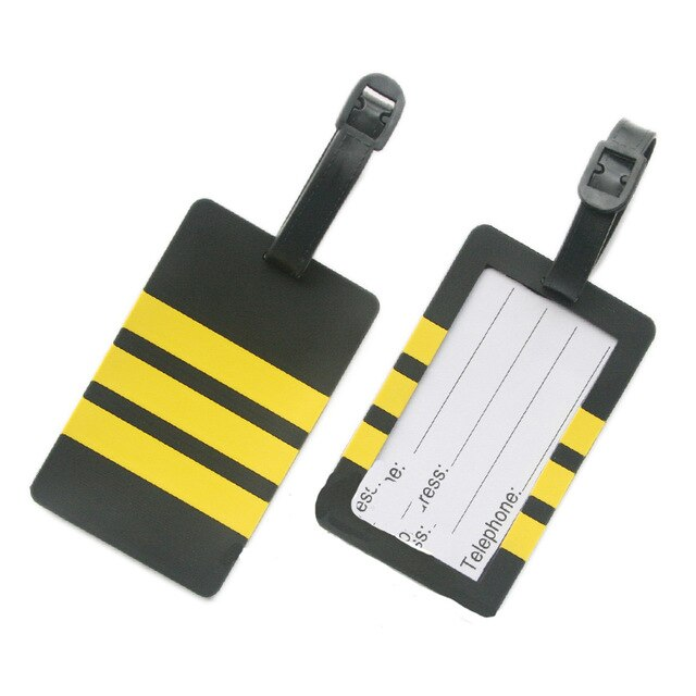 Pilot - Three Lines Designed Rubber Luggage Tags