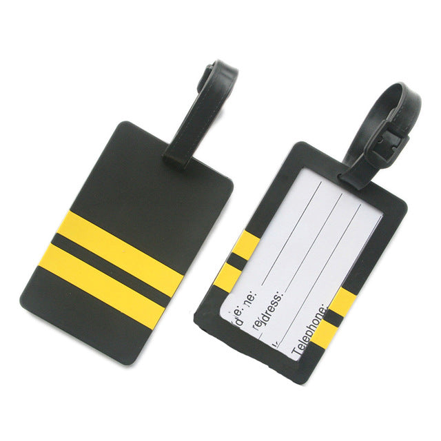 Pilot - Two Lines Designed Rubber Luggage Tags