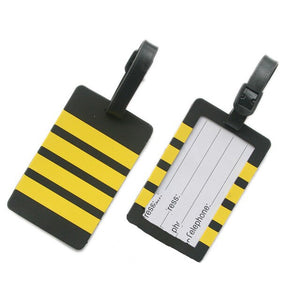 Pilot - Four Lines Designed Rubber Luggage Tags