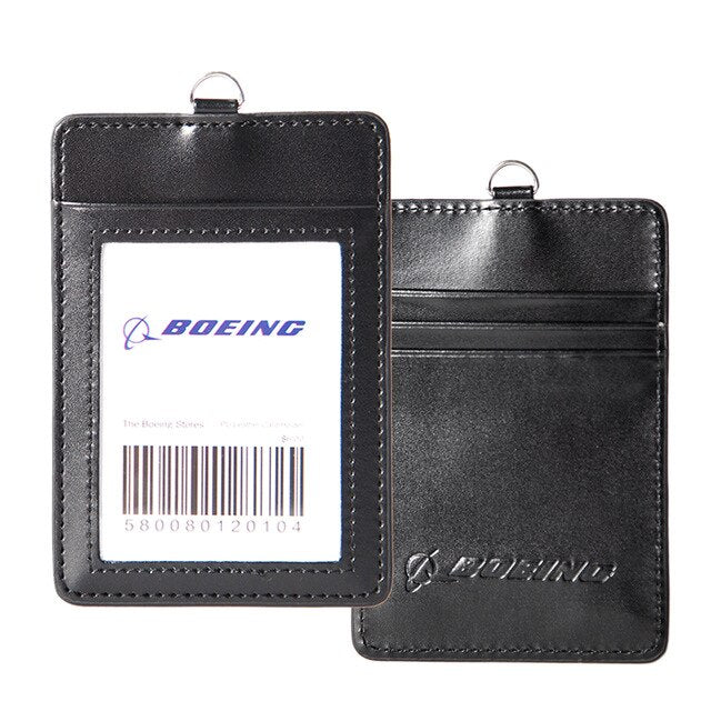 Boeing & No Logo Genuine Leather ID Holder