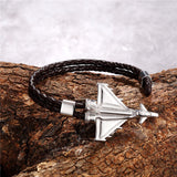 (Edition 2) Military Aircraft Designed Leather Bracelets