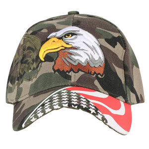USA Flag Camouflage Style & Eagle Designed Hats