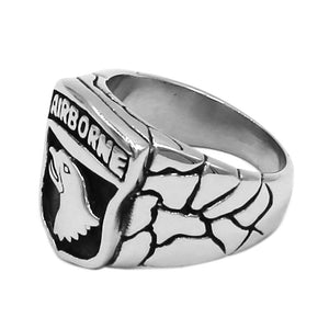 101st Airborne Screaming Eagle Designed Ring