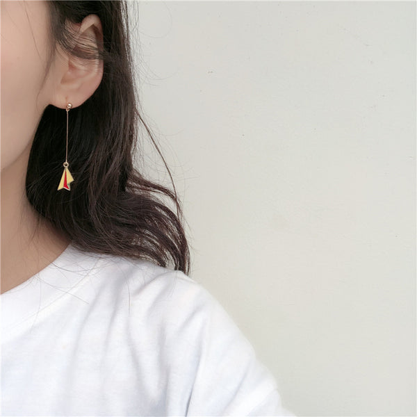 Paper Airplane & World Shape Designed Earrings