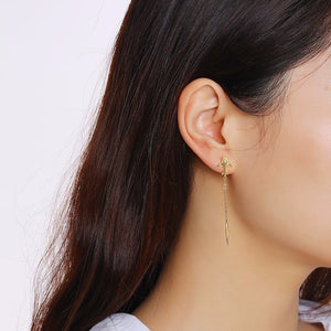 Airplane and Bullet Long Chain Designed Earrings