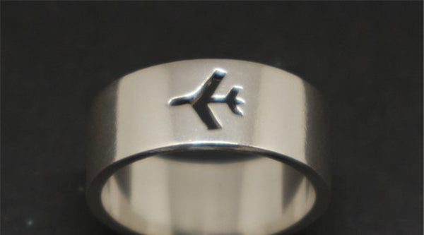 Amazing Airplane Symbol Airplane Ring FOR MEN
