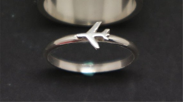 Amazing Airplane Symbol Airplane Ring FOR WOMEN