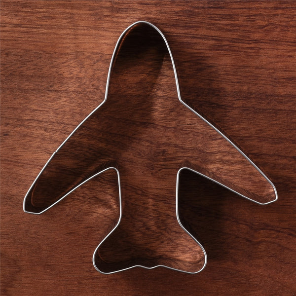 Airplane Shape Cookie & Biscuit Cutter (Stainless Steel)