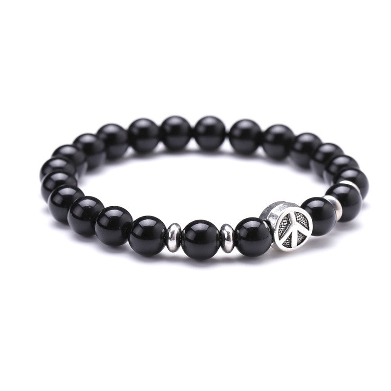 Natural Stone & Airplane Shape in Circle Designed Bracelets