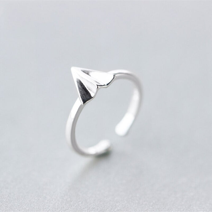 Adjustable Super Cool Paper Airplane Ring