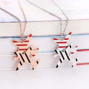 Airplane Shape Super Colourful Necklaces