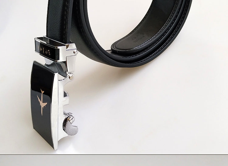 Genuine Leather Airplane Shape added Belt