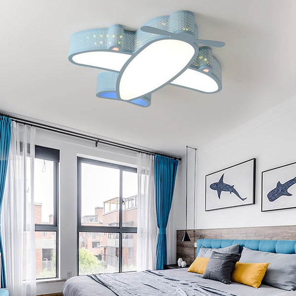 Cartoon Style Ceiling Type Airplane Shape Wall Lamp