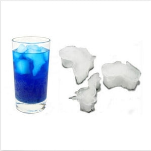 World Continent Shape Ice Mold
