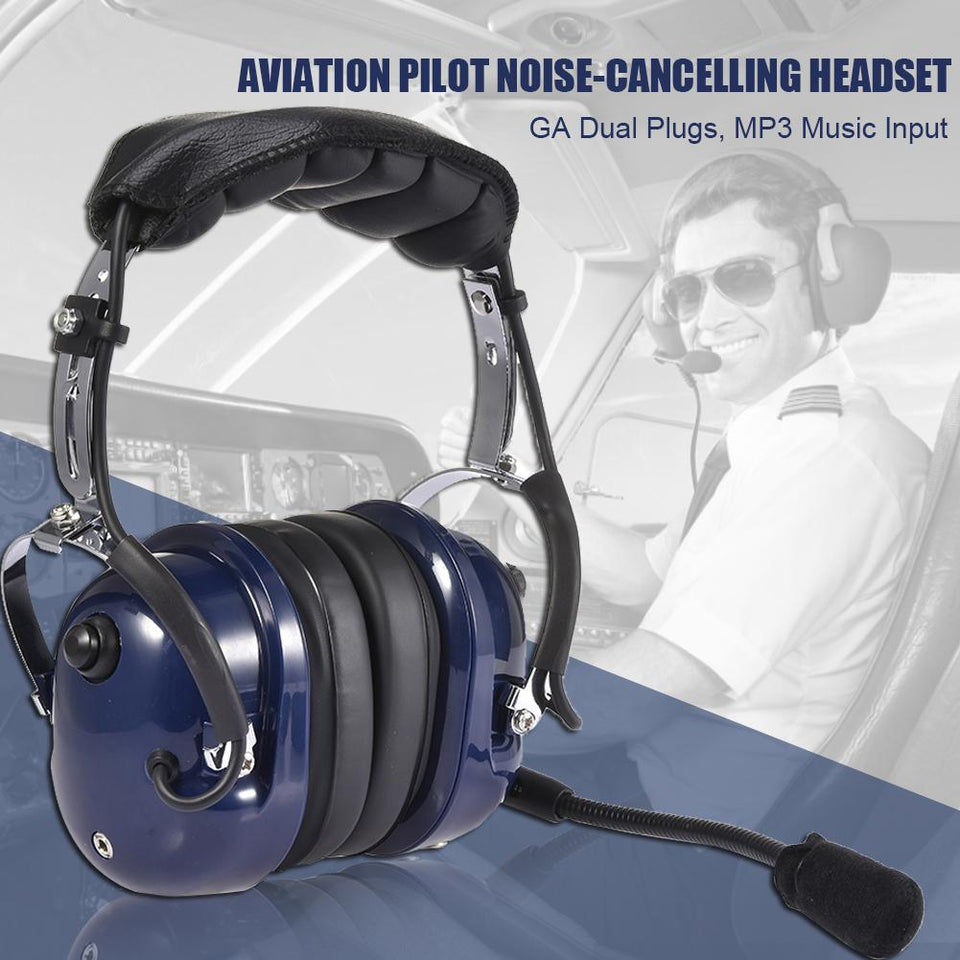 Super Value Pilot ABS Headset with Noise Reduction & Music Input