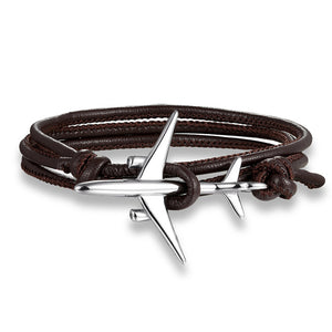 (Edition 3) Boeing 777 Airplane Designed Leather Bracelets
