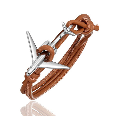 (Edition 3) Super Cool Airplane Designed Leather Bracelets