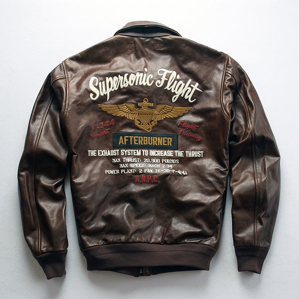 Supersonic Flight Themed Genuine Leather Pilot Jackets