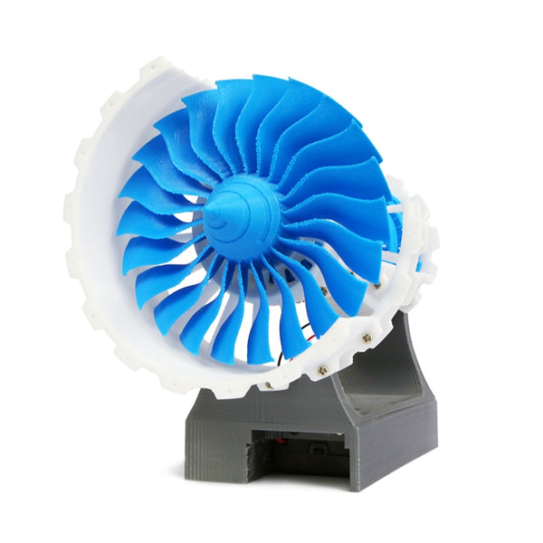 3D Printed Airplane Jet Engine Designed Desktop Decor (Battery Powered)