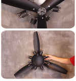 Ultra Big Retro Airplane Propeller Metal Wall Hanging Decoration
