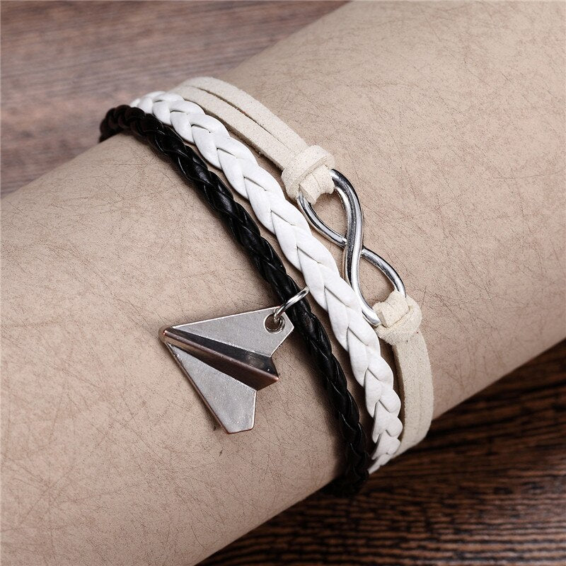 Vintage Dream & Love Texted & Airplane Shape Super Cool Bracelets