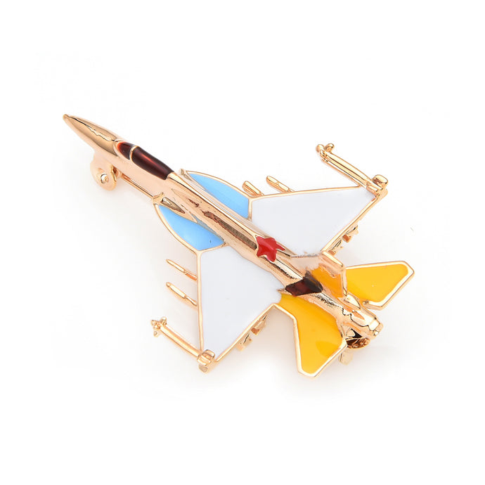 Colourful Fighting Falcon F-16 Designed Brooches