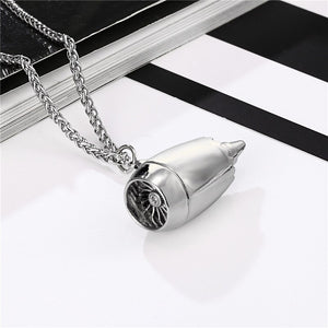 Jet Engine Shape Designed Super Necklace
